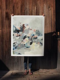 Flood .  extra large wall art . giclee print by ClareElsaesser