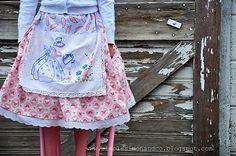 vintage dishtowel apron skirt