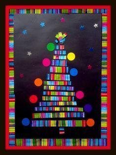 Allez, pour une fois, on oublie les couleurs traditionnelles de Noël et on se lance dans un sapin super coloré et joyeux à souhait ! Et en plus il va nous permettre de travailler sur les longueurs et
