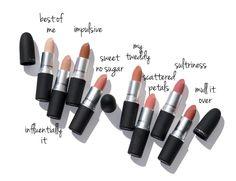 Revue de rouge à lèvres MAC Kiss Powder + Swatches - Camaraderie Limited Mac Matte Lipstick, Lipstick Shades, Mac Lipsticks, Liquid Lipstick, Pat Mcgrath, Matte Lip Color, Lip Colors, Lipstick Colors, Makeup Products