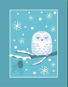 'Snowy Christmas Owl' by Teresa Woo-Murray