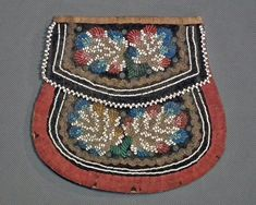 The piece shows excellent beadwork on both sides with a traditional double flap design. We have been involved in antique trading since artifact to be non-authentic. Iroquois, Native American Beadwork, Beaded Bags, Pouch Bag, Tribal Art, Vintage Handbags, Saddle Bags, Nativity, Purses And Bags