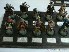Juguetes Antiguos: Coleccion de 59 soldaditos marca Almirall Palou con sus bases - Foto 4 - 39851430