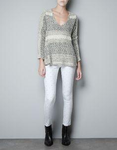 JACQUARD FLAME LACE JUMPER - Knitwear - Woman - ZARA United States