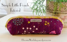 Hello, lovely people.  I recently gave a demo at my local quilt shop on how to make this little pouch . Here it is for you to enjoy.  I made the first one back in December and then gave it away as …