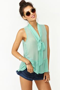 Ruffled Tie Top