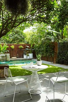 If you are working with the best backyard pool landscaping ideas there are lot of choices. You need to look into your budget for backyard landscaping ideas Small Backyard Landscaping, Tropical Landscaping, Backyard Patio, Landscaping Ideas, Backyard Ideas, Patio Ideas, Tropical Garden, Pool Ideas, Tropical Pool