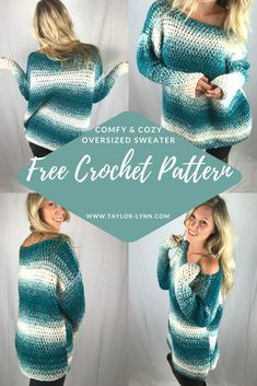 Crochet Top Patterns Crochet sweater - Crocheters of all levels will find something to love in this compilation of free crochet sweater patterns, each of which require very little or no shaping. Moda Crochet, Bag Crochet, Crochet Woman, Crochet Crafts, Crochet Clothes, Crochet Projects, Crochet Granny, Crochet Ideas, Crochet Cocoon