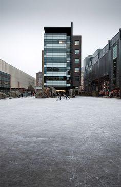Hockey rink at Ryerson University, Toronto, ON © Sam Javanrouh