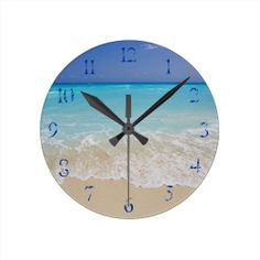 White sand beach in Cancun Wall Clock.  $21.95
