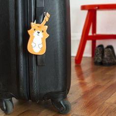 Etiquette bagage renard