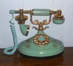 Vintage telephone just like mine except mine is white!
