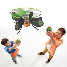 Indoor Shooting Game HoverTech 2 Player Flying Target Drone Skeet Practice Nerf #IndoorShootingGame