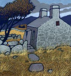 Chris Neale Studio - signed limited edition art prints and original artwork Landscape Art, Landscape Paintings, Building Art, Champs, Art Moderne, Naive Art, Art Plastique, Print Artist, Painting & Drawing