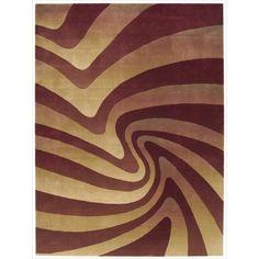 Nourison Parallels Swirl Pattern -color Rug