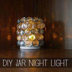 Turn a glass jar into a beautiful night light!