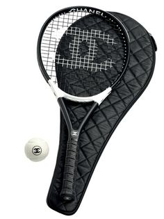 84a40478644a Chanel Graphite Tennis Racket with quilted Cover. #Chanel On my list