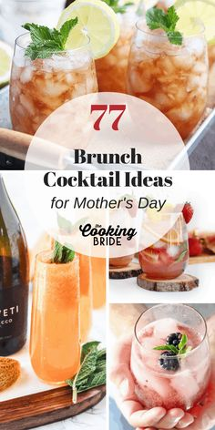 Great Mothers day gift 77 Delightful Cocktails Perfect for Brunch Take your brunch to the next level with one or more of these tasty brunch cocktails. You'll find mimosas to mojitos and everything in between. Sangria Recipes, Brunch Recipes, Cocktail Recipes, Brunch Ideas, Drink Recipes, Breakfast Ideas, Brunch Drinks, Tea Cocktails, Acholic Drinks