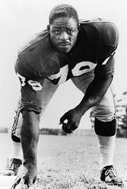 New York Giants - Roosevelt Brown - Inducted to Pro Football Hall of Fame in 1975 - Played for Giants 1953 to 1965
