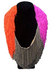 Le MARCEL beaded fringe necklace