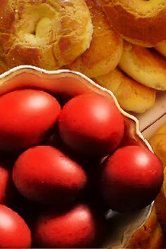 Greek Easter Eggs & Tsourekia