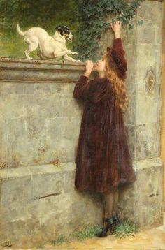 Briton Rivière. Play fellows, 1900