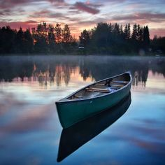 """""""~ The land of the Midnight sun Took this shot last night at This was the lowest point the sun went in all night. Finland Travel, Canoe Boat, Tom Of Finland, Forest Painting, Scenery Photography, Landscape Pictures, Amazing Nature, Airplane View, Calm Waters"""