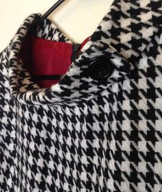 Black and white is just so classy!  vintage houndstooth dress