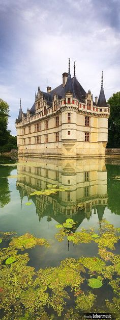 France Travel Inspiration - Chateau d'Azay-le-Rideau, Loire Valley, France - Europe.