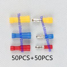 FRD MPD + 100 PCS Bullet Berbentuk Perempuan Laki-laki Isolasi Bersama Kawat Konektor Listrik Crimp Terminal FRD + MPD MPD FRD