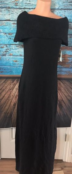 NWT Ralph Lauren Women's Black Wool Rabbit Long Evening Dress Sz M Medium $395  | eBay