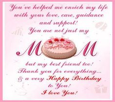 happy birthday quotes for my mother - Google Search