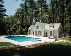 Acadian Style Homes, Pool Porch, Patio, Modern Gazebo, Pool House Designs, Pool Fountain, Pool Picture, Cedar Homes, Swimming Pools Backyard