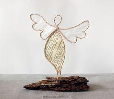 majaskreativwelt: paper art - The Home Decor Trends Book Crafts, Fun Crafts, Diy And Crafts, Christmas Angels, Christmas Crafts, Wire Ornaments, Wire Flowers, Angel Crafts, Wire Crafts