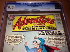 awesome ADVENTURE COMICS #326 CGC 9.2 OWP. Superboy, Supergirl, Girl Legionnaires 1964