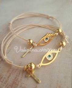 Christening Bracelets, Party, Gold, Jewelry, Ideas, Fashion, Baptism Favors, Moda, Jewlery