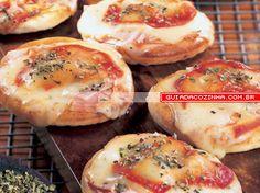 Receita de Minipizza de mussarela