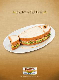 An excellent ad where a 'fish sandwhich' is created for this tuna brand which actually makes the option more appealing to me!