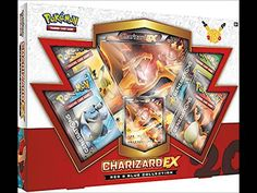 Pokemon Charizard EX RED & BLUE Generations Booster Box Set - 4 packs + more!
