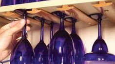 Hang Wine Glasses With Molding