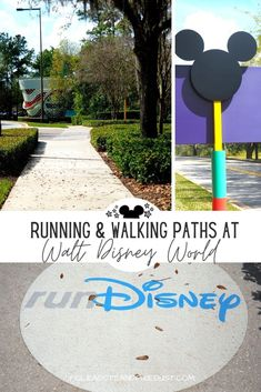 Walking and Running Paths at Walt Disney World across the Disney Resorts are prefect for an easy stroll, walking program or runDisney training. Check out all the Disney Paths you can take to get in some exercise, de-stress and avoid the crowds! #polkadotpixies