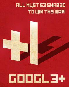Google Plus Propaganda Poster Version 1