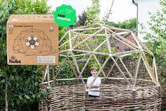 2v geodesic dome uses scrap wood designboom hubs_main