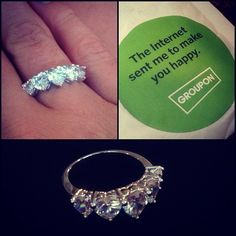 Got this for $12  #steal #groupon #ring #jewelry #hearts #diamonds #diamondring #discounts  Best diamond ring prices available here http://www.bestpriceengagementrings.net