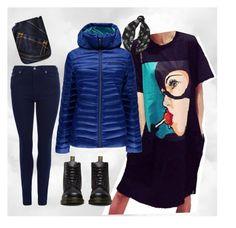 """Bat Girl"" by bela-carapinheiro-valimaa on Polyvore featuring moda, Barbour, Spyder, Dr. Martens e Alexander McQueen"