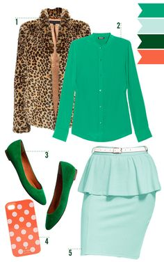 Cheetah and mint | http://cocokelley.blogspot.com/2012/02/foodie-fashionista-survival-guide.html
