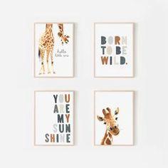 Safari Nursery, Animal Nursery, Nursery Prints, Nursery Wall Art, Nursery Ideas, Giraffe Art, Giraffe Bedroom, Grand Art, Pink Wall Art