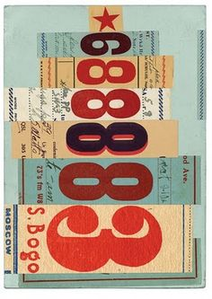 Julia Trigg's large digital collages of gorgeous typographic ephemera are packed full of giant numbers, letters and graphic elements in . Vintage Typography, Typography Letters, Graphic Design Typography, Graphic Design Illustration, Hand Lettering, Illustration Styles, Vintage Graphic, Collages, Design Art