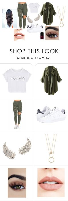 """""""school kaki"""" by vuillemin-tata on Polyvore featuring WithChic, adidas, Kate Spade et Jouer"""