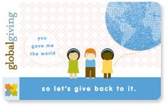 Gifts that give back: a choose your own fund card